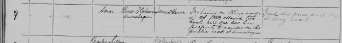 Flahavan, Pierce Petty Court 8 Oct 1883