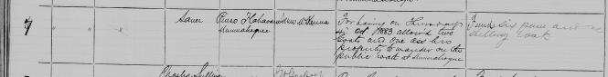 Flahavan, Pierce Petty Court 8 Oct 1883